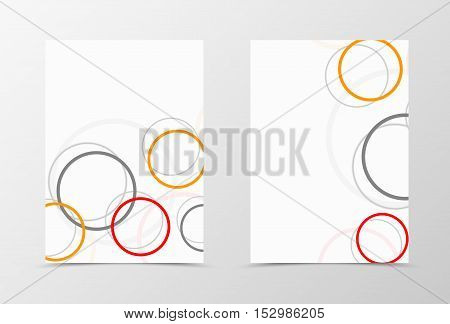 Flyer background with orange gray and red circles