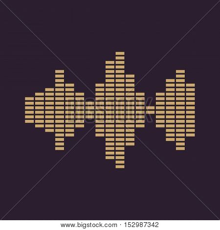 The sound wave and equalizer icon. Audio, radio symbol. Flat Vector illustration