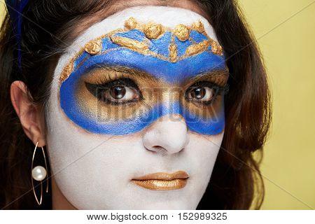 Close Up Of Venetian Mask