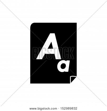 Piece of paper icon. Document data archive and information theme. Isolated design. Vector illustration