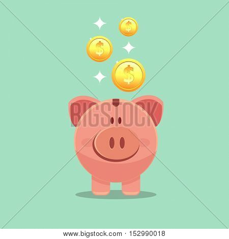save money - money box pig