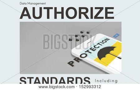Business Authorize Protection Permission Concept