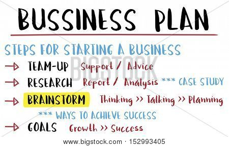 Business Plan Strategy Success Goals Research Concept