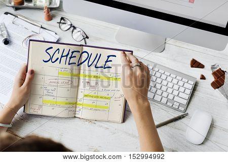 Schedule Activity Calendar Appointment Concept