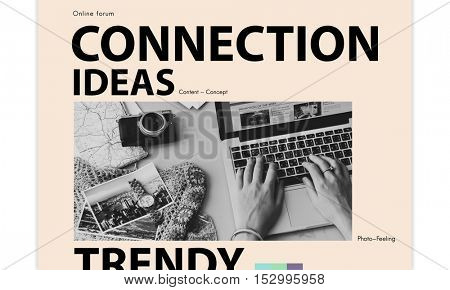 Social Media Blog Ideas Concept