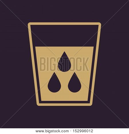 The liquid in glass icon. Water and drink, aqua symbol. Flat Vector illustration