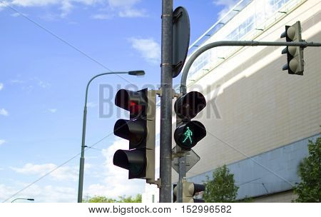 Traffic Light At The Intersection