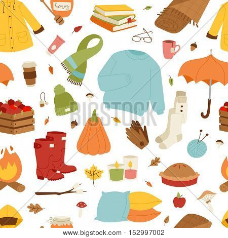 Collection of autumn items