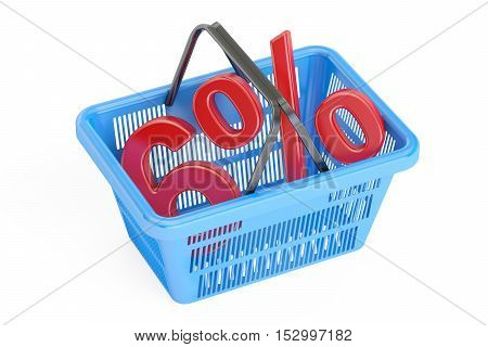 Discount and sale 6% concept 3D rendering isolated on white background