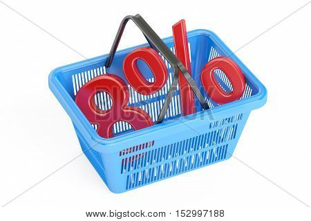 Discount and sale 8% concept 3D rendering isolated on white background