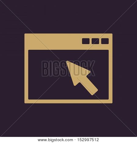 The browser icon. Website and WWW, network symbol. Flat Vector illustration