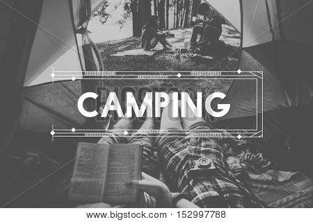 Wildlife Adventure Journey Camping Lifestyle Concept
