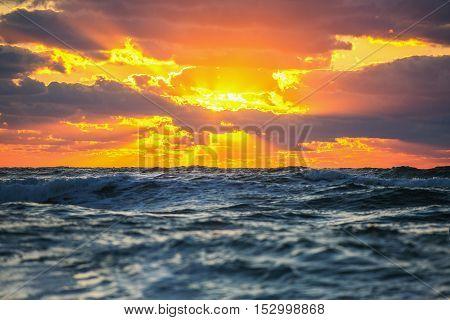 Beautiful Cloudscape Over The Sea