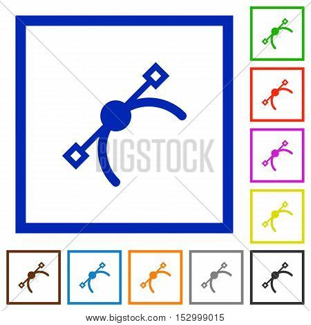 Vector symbol flat color icons in square frames