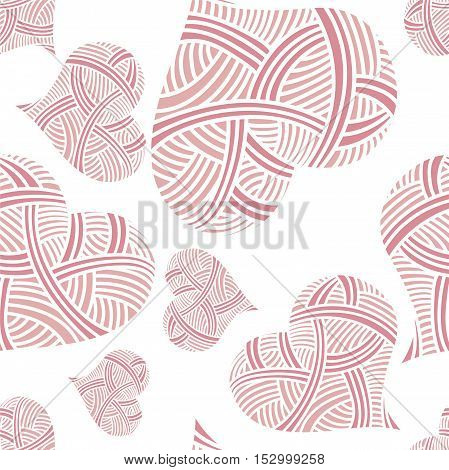 Heart pattern for wedding or Valentine's Day. Pattern for greeting card.