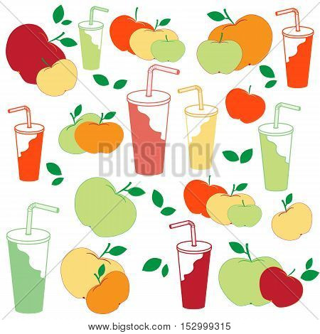 Nice Picture Of Apples And Apple Juice Rich In Vitamin C