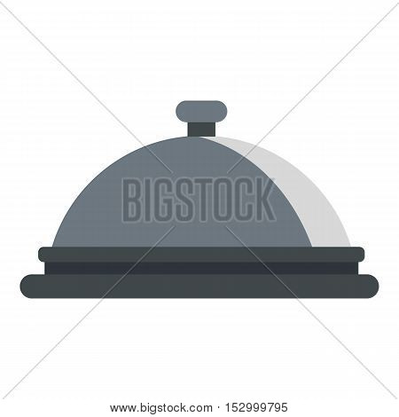 Restaurant cloche icon. Flat illustration of cloche vector icon for web design