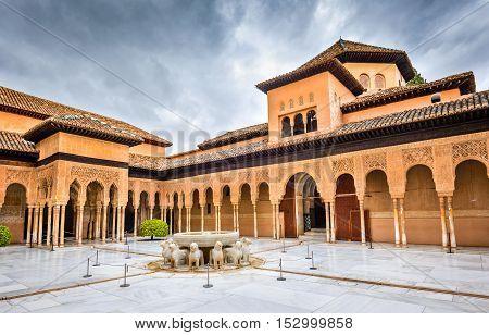 Alhambra of Granada. Andalusia moorish architecture in Spain.