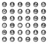 foto of internet icon  - web buttons with icons  - JPG