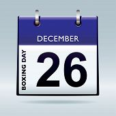 foto of boxing day  - Simple blue and white boxing day calendar icon - JPG