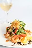 image of thai cuisine  - Beautiful Thai salad with prawns and noodles - JPG