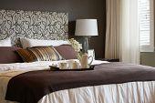 stock photo of master bedroom  - Master bedroom - JPG