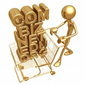 Domain Shopping E Commerce Concept