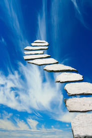 picture of climb up  - Stone pathway leading to heaven - JPG