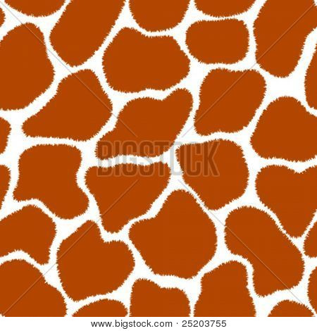 Giraffe Fell. Seamless vector wallpaper