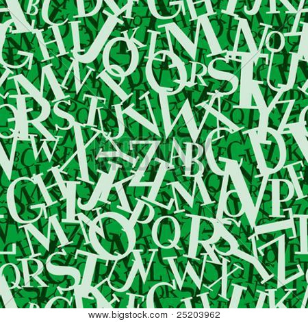 Heap of letters. Seamless vector wallpaper. Based on my font