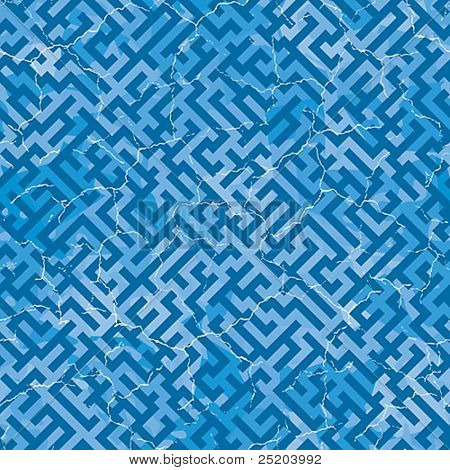 Maze cracky. Seamless vector wallpaper. Color easy for change