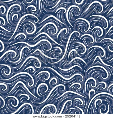 seamless vector sea ripples