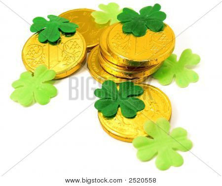 Saint Patrick'S Gold And Clover