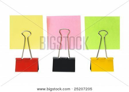 Nota adhesiva papeles y Clips de papel