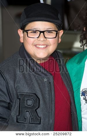 HOLLYWOOD, CA - NOVEMBER 12: Actor Rico Rodriguez arrives at the Los Angeles premiere of