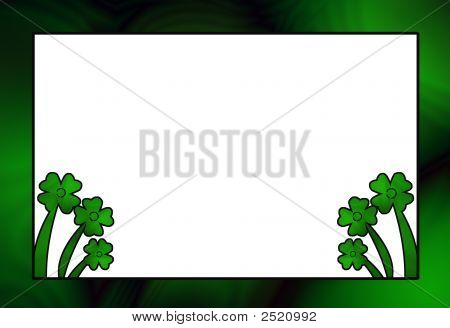St Patricks Day Clover Frame