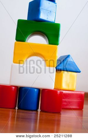 Plastic  Building Block House