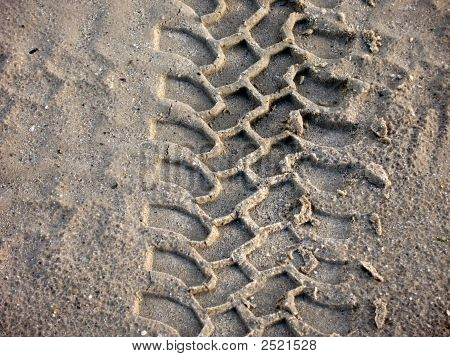 Track In Sand