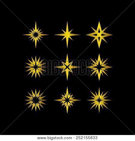 Sparkle Vector Set  Sparkles White Symbols  Sparkle Star  Sparkling Symbol   Set Of Sparkles Star  Sp poster