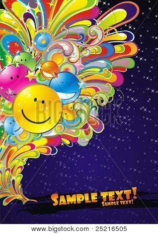 Musik-Flyer mit farbigen Hintergrund