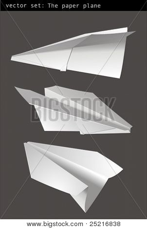 Vector Set - avión de papel