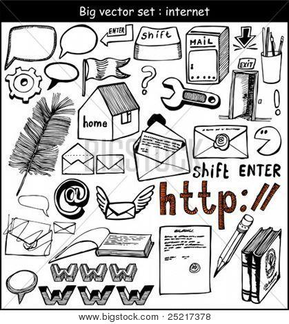 big vector set : web
