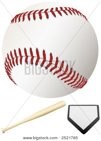 Bat Home Plate & Major League Baseball