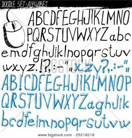 doodle set - alphabet