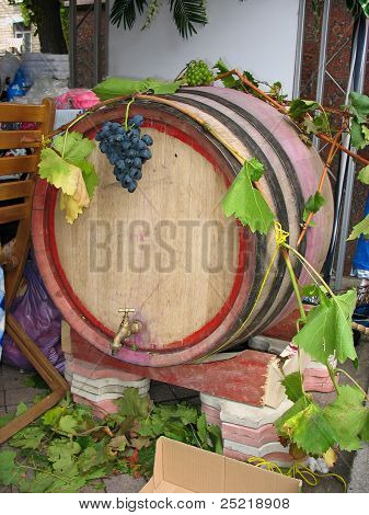 Vintage Old Wooden Barrel