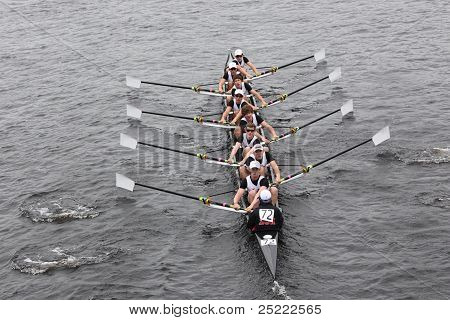 BOSTON - OCTOBER 23: Boston College High School youth men's Eights races in the Head of Charles Rega