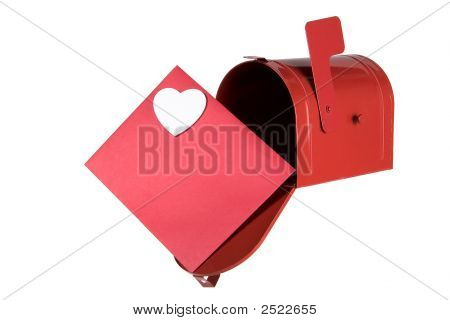 Mailbox And Card With Heart