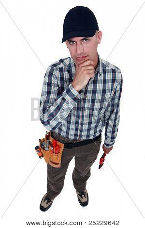 A perplexed handyman