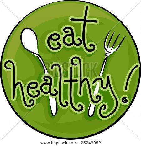 Icon Illustration Advocating a Healthy Diet