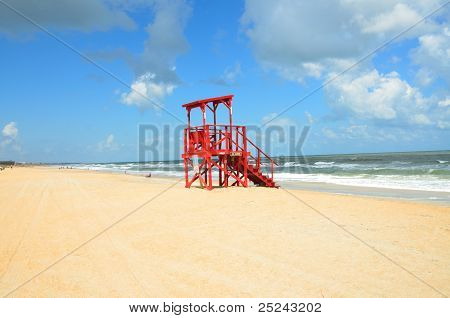 Empty Lifeguard Stand